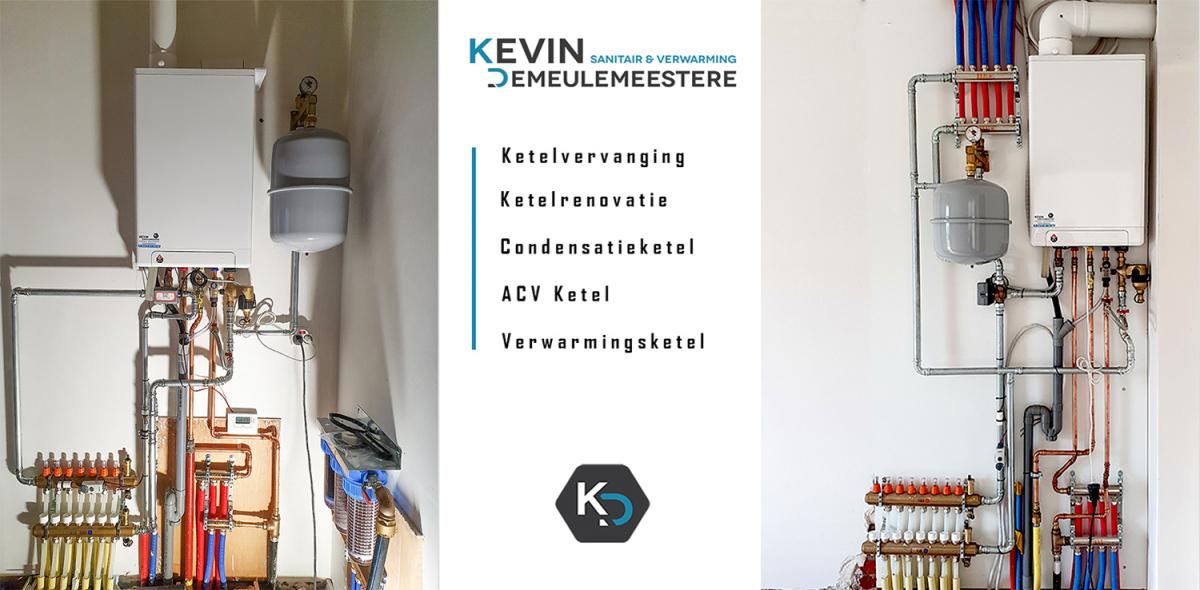 Voor uw ketelvervanging, ketelrenovatie, condensatieketel, acv ketel of verwarmingsketel kan u terecht bij Sanitair en Centrale verwarming Kevin Demeulemeestere