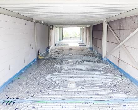 Een grote oppervlakte leent zich perfect voor vloerverwarming