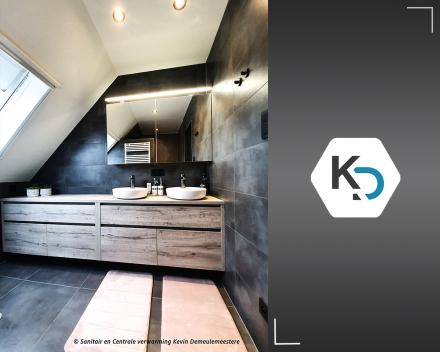Een totaalrenovatie van badkamer met naadloos panel marmerlook_badkamer renovatie van A tot Z door Kevin Demeulemeestere