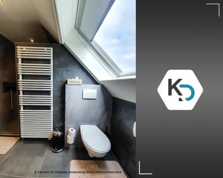 Een badkamer totaalrenovatie met naadloos panel marmerlook_badkamer renovatie van A tot Z door Kevin Demeulemeestere