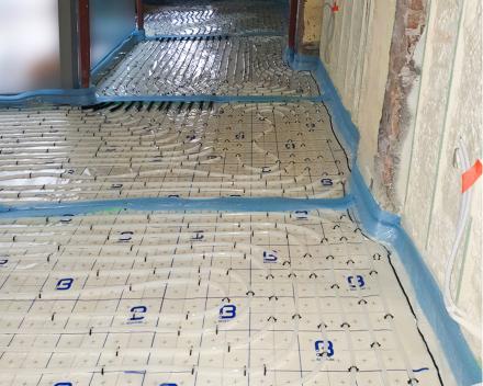 Vloerverwarming professioneel gelegd door Sanitair en Centrale verwarming Kevin Demeulemeestere